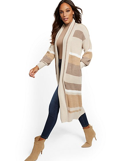 Stripe Duster Cardigan - New York & Company