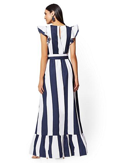 0af81ae6958 ... Stripe Flounce Maxi Dress - New York   Company ...