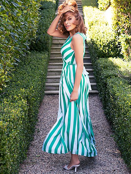 Stripe Kenzie Maxi Dress - Eva Mendes Collection - New York & Company