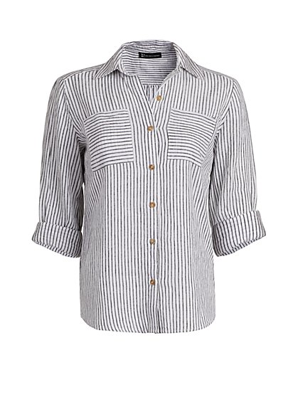 Stripe Linen Shirt - New York & Company