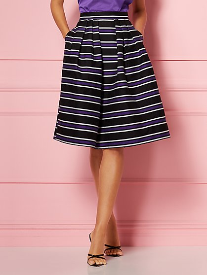 Stripe Maddie Skirt - Eva Mendes Party Collection - New York & Company