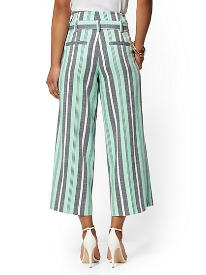d169c97ecea109 ... Stripe Madie Crop Pant - 7th Avenue - New York & Company ...