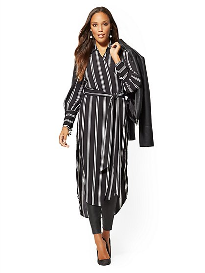 Stripe Maxi Shirt - 7th Avenue - New York & Company