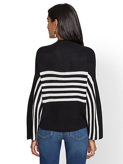 dc8842a072 ... Stripe Mock-Neck Sweater - New York   Company