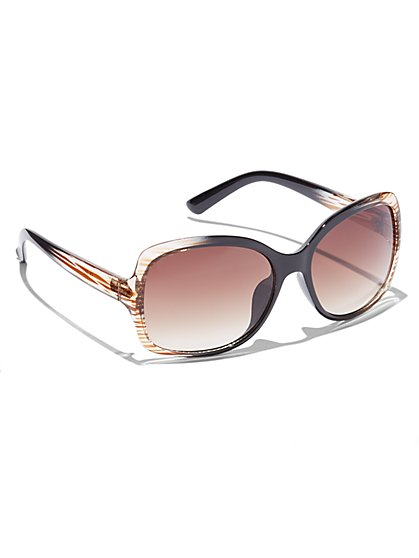 Stripe-Ombre Sunglasses - New York & Company