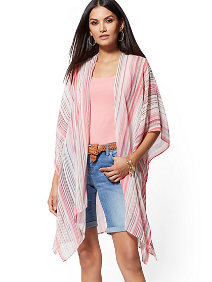 Stripe Open-Front Topper - New York & Company