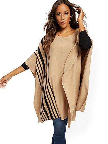 Stripe Poncho - New York & Company