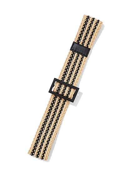 Stripe Raffia Belt - Eva Mendes Collection - New York & Company