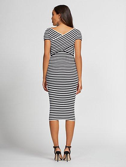 a368c2d2b70 ... Stripe Sheath Sweater Dress - Gabrielle Union Collection - New York    Company