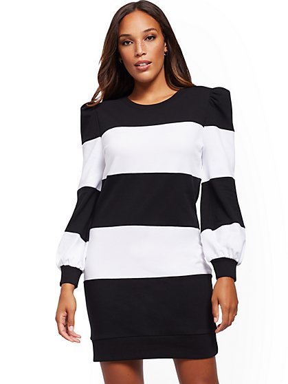 Stripe Shift Dress - Soho Street - New York & Company