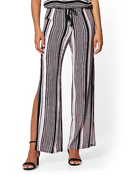 Stripe Shirred Soft Pant - New York & Company