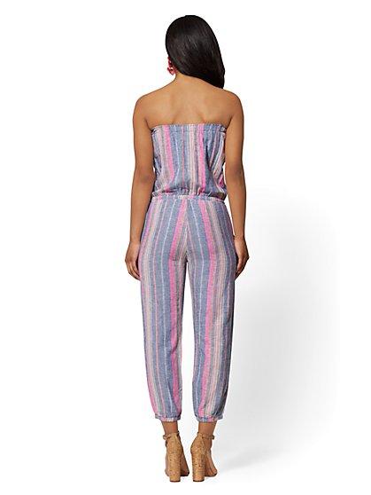 dae505460ae ... Stripe Strapless Linen Jumpsuit - Soho Street - New York   Company