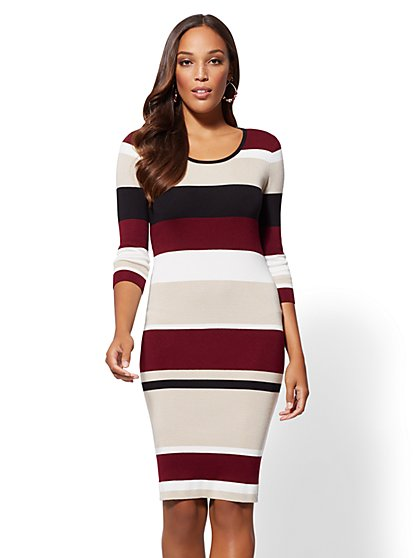 Stripe Sweater Dress - New York & Company