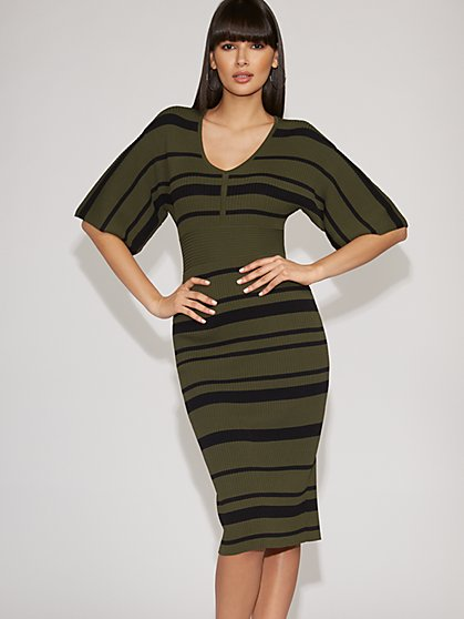 Stripe Sweater Sheath Dress - Gabrielle Union Collection - New York & Company