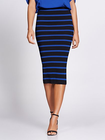 Stripe Sweater Skirt - Gabrielle Union Collection - New York & Company