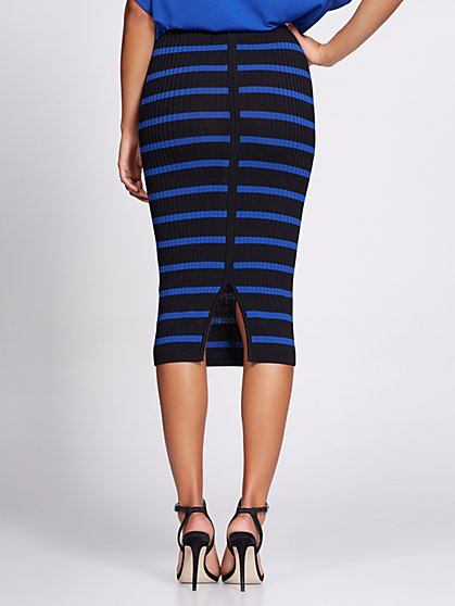 244f17701da ... Stripe Sweater Skirt - Gabrielle Union Collection - New York   Company  ...