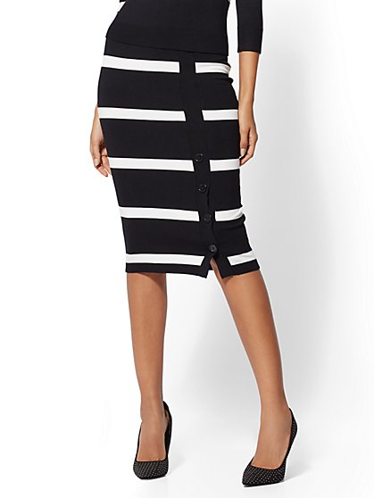 Stripe Sweater Skirt - New York & Company