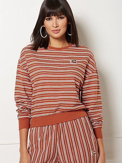 Stripe Sweatshirt - Eva Mendes Collection - New York & Company
