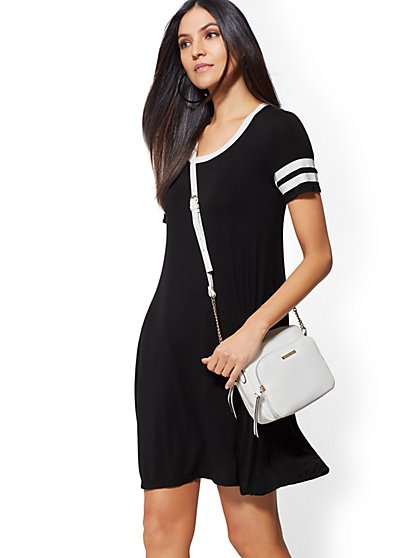 Stripe Swing Dress - Soho Street - New York & Company