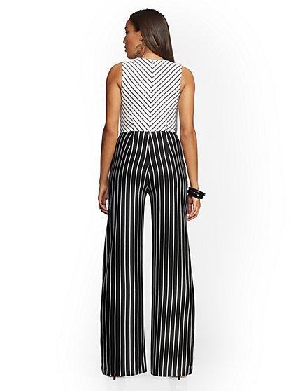 e5f21063db67 ... Stripe Tie-Front Jumpsuit - New York   Company