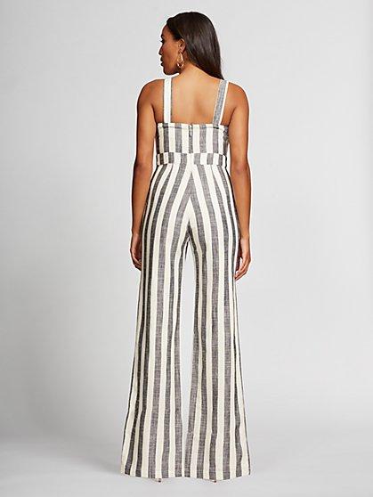 0686109240c ... Stripe Wrap Linen Jumpsuit -Gabrielle Union Collection - New York    Company