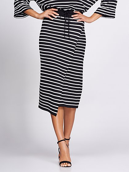 Stripe Wrap Sweater Skirt - Gabrielle Union Collection - New York & Company