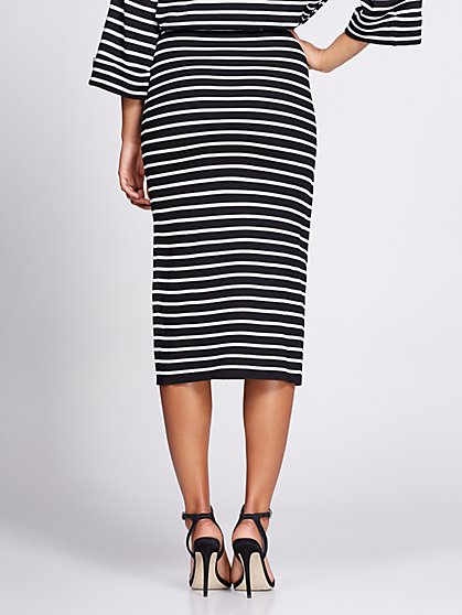 9085571956d ... Stripe Wrap Sweater Skirt - Gabrielle Union Collection - New York    Company ...