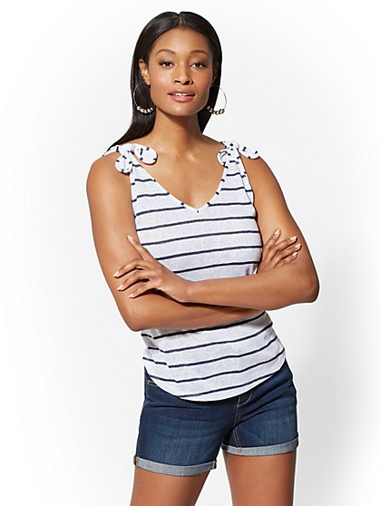 Striped Sweater Tank Top - New York & Company