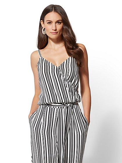 Striped Wrap Camisole Top - New York & Company