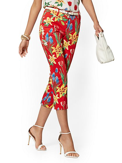 Structured Floral Crop Pant - 7th Avenue - New York & Company