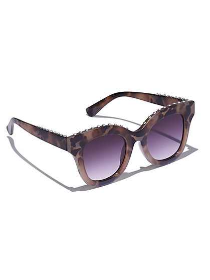 Studded Cat-Eye Sunglasses - New York & Company