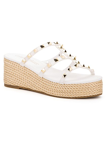 Studded Espadrille Wedge Sandal - New York & Company