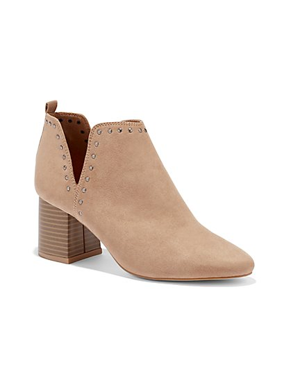 Studded Faux-Suede Boot - New York & Company