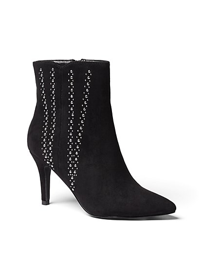 Studded Faux-Suede Bootie - New York & Company