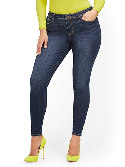 Sunday Mid-Rise Super-Skinny Jeans - Moonlight Blue - New York & Company