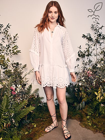 Sunny Shirtdress in Responsibly-Sourced Cotton - New York & Company