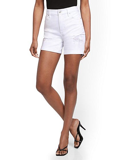 Super High-Waisted 5-Inch Short - White - New York & Company