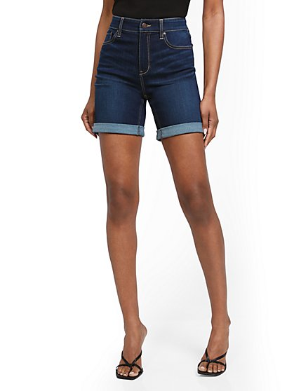 Super High-Waisted 7-Inch Short - Dark Blue - New York & Company