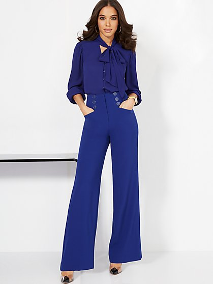 Super High-Waisted Wide-Leg Pant - Super Flex - New York & Company
