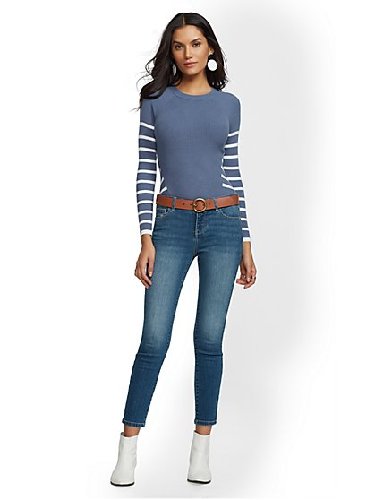 Super-Skinny Ankle Jeans - Blue Society- NY&C Runway - Ultimate Stretch - New York & Company