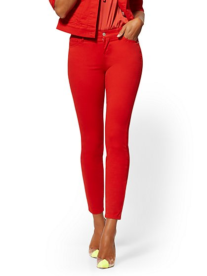 Super-Skinny Jeans - Red - New York & Company