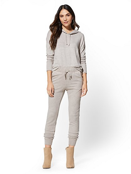 Super-Soft Knit Slim Jogger - Soho Street - New York & Company