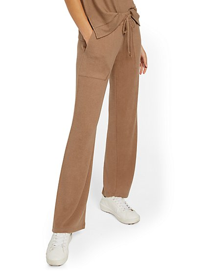 Super-Soft Knit Wide-Leg Pant - Soho Street - New York & Company