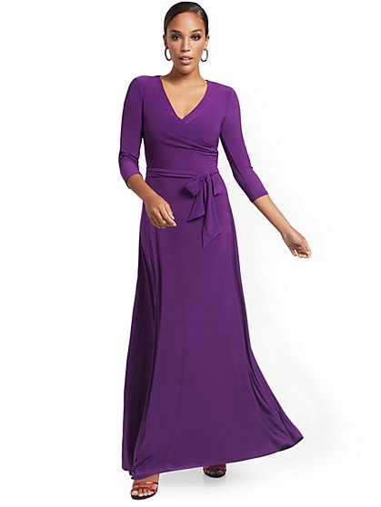Surplice Maxi Dress - New York & Company