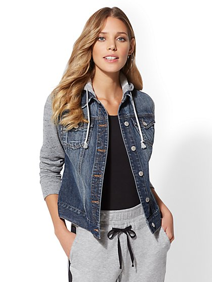 Sweatshirt Denim Jacket - New York & Company