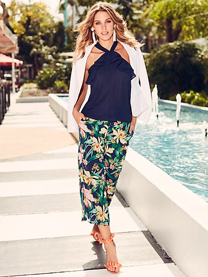 Sweet Pea - Floral-Print Palazzo Pant - New York & Company