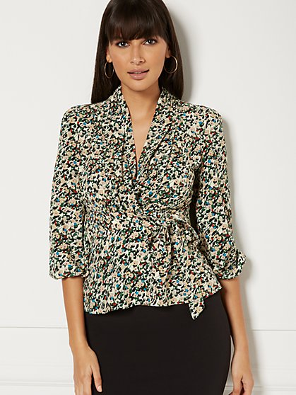 Sybil Wrap Blouse - Eva Mendes Collection - New York & Company