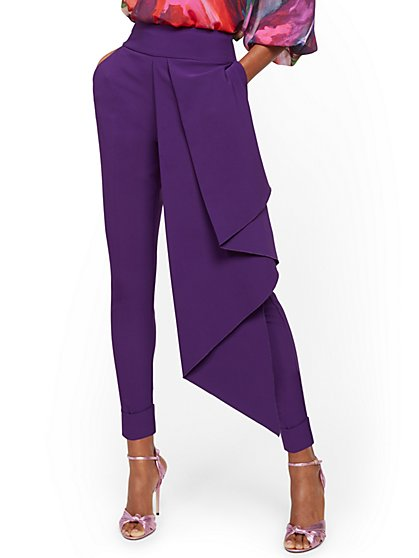 Tall Ankle Pant with Front Drape - New York & Company