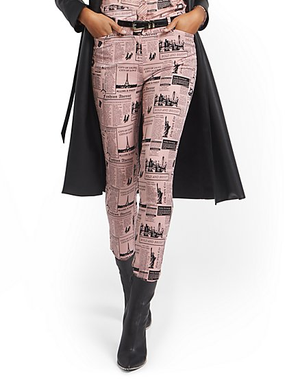 Tall Audrey High-Waisted Ankle Pant - Newspaper-Print - New York & Company