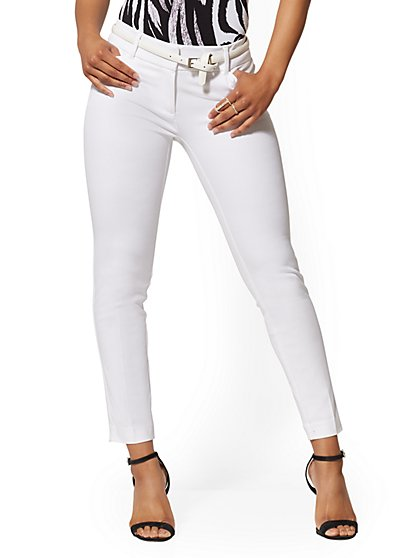 Tall Audrey Slim Leg Ankle Pant - White - New York & Company